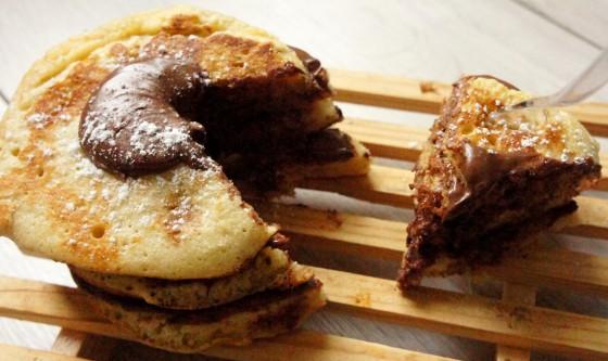 pancake cake nutella