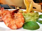 Guacamole & Chips + gambas, 8€