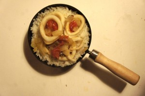 wok calamars
