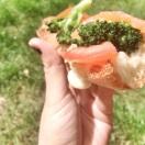 Bruschetta brocolis x mozza x tomates x saumon !