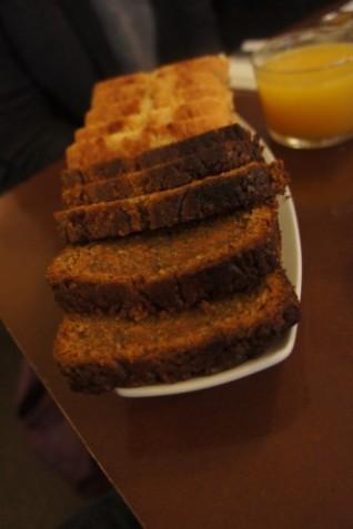 Quatre-Quart nature ou façon Carrot Cake et jus de fruits frais !