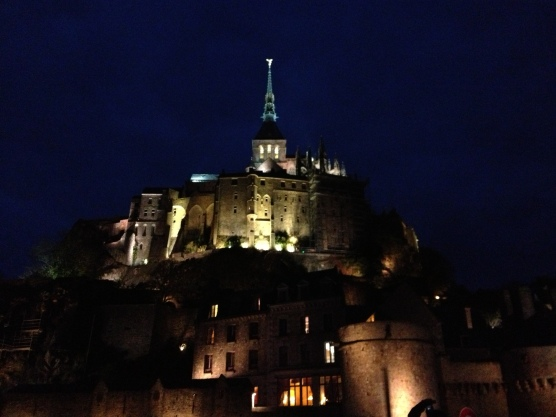 Le Mont St Michel by night